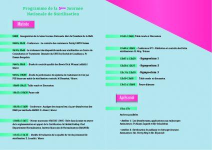 Programme de la 5ème Journée Nationale de la Stérilisation